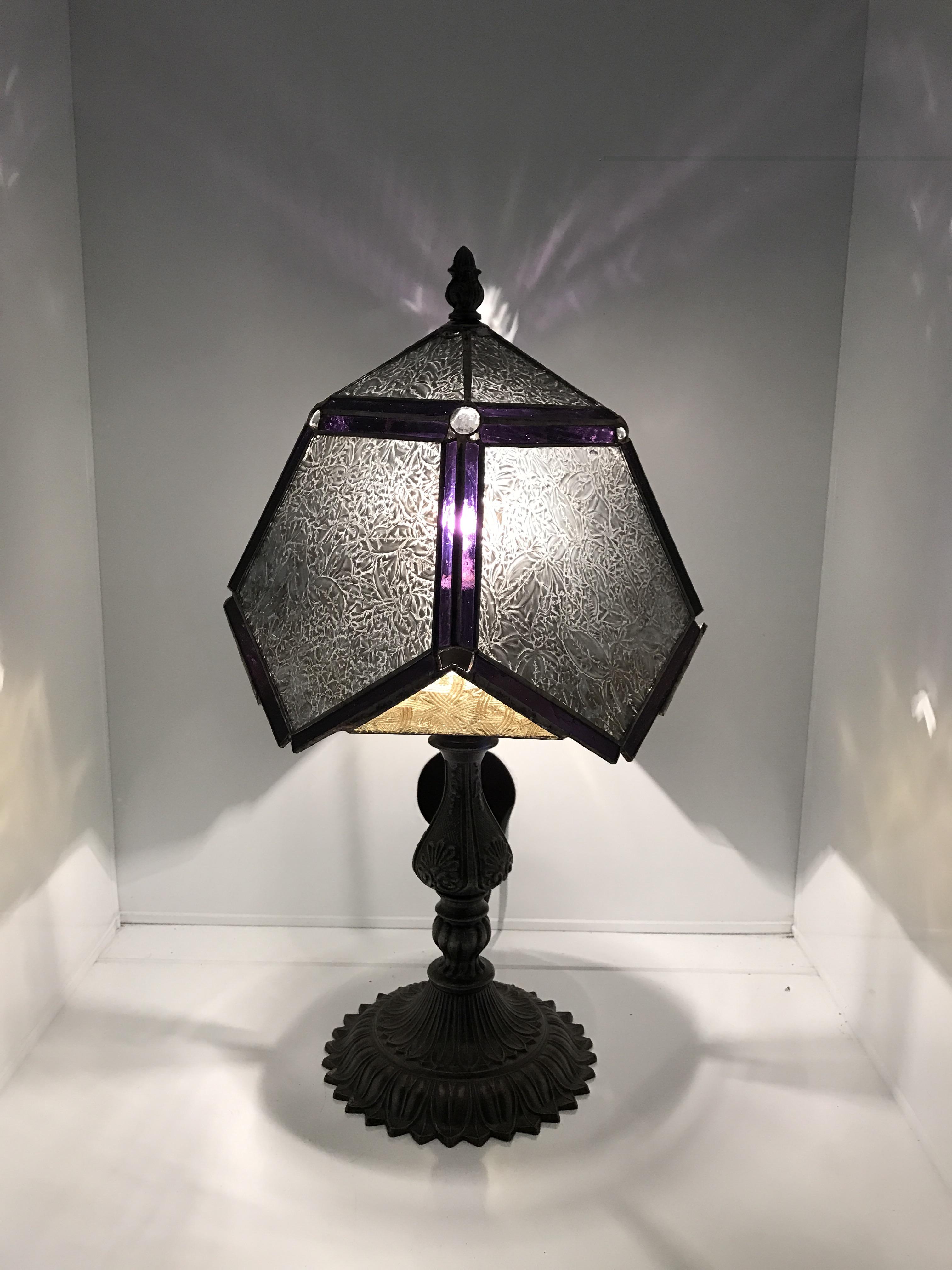 夢ガラスの作品「ペンタゴンの和風ランプ」