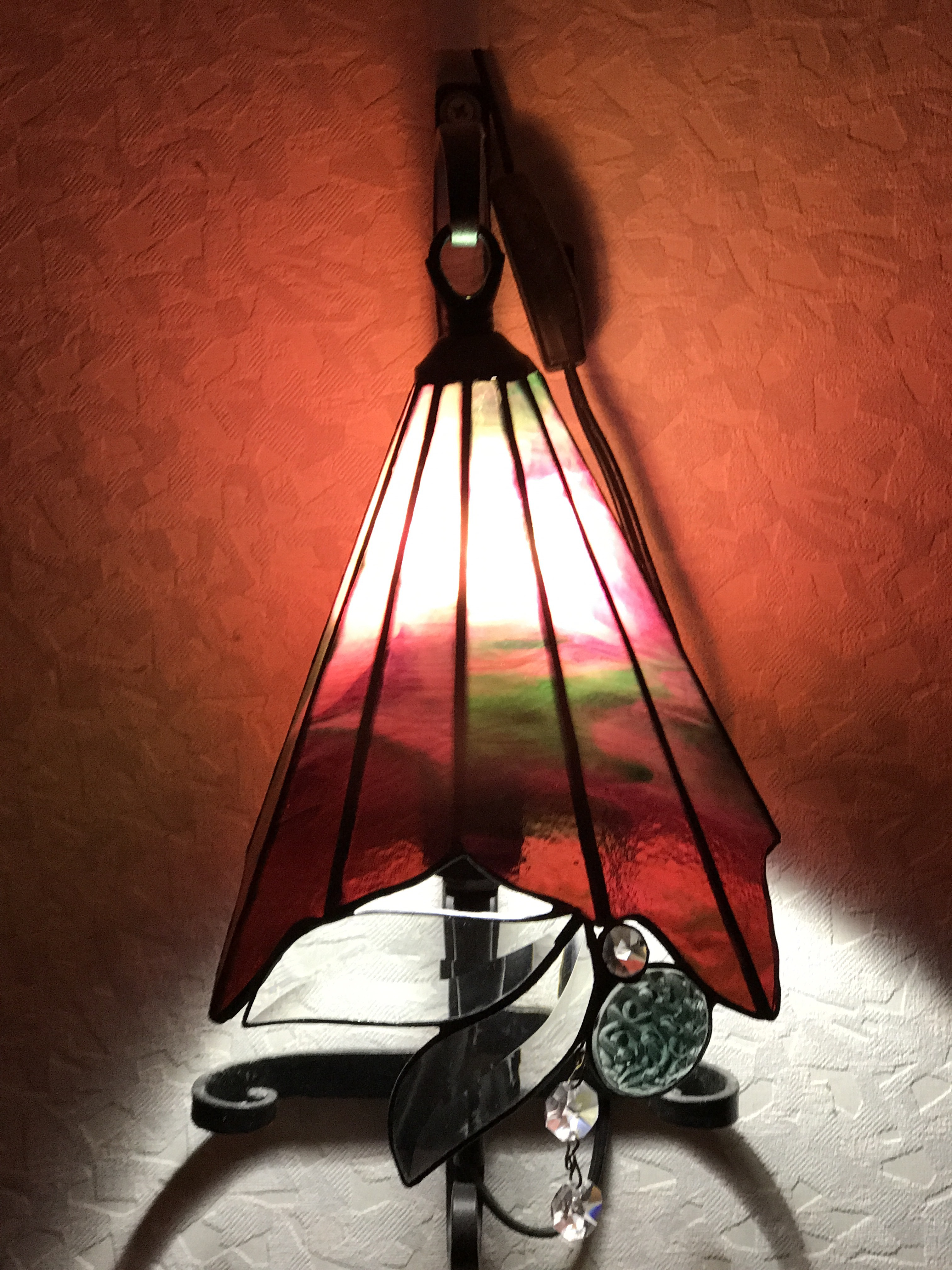 夢ガラスの作品「ウォールランプ」